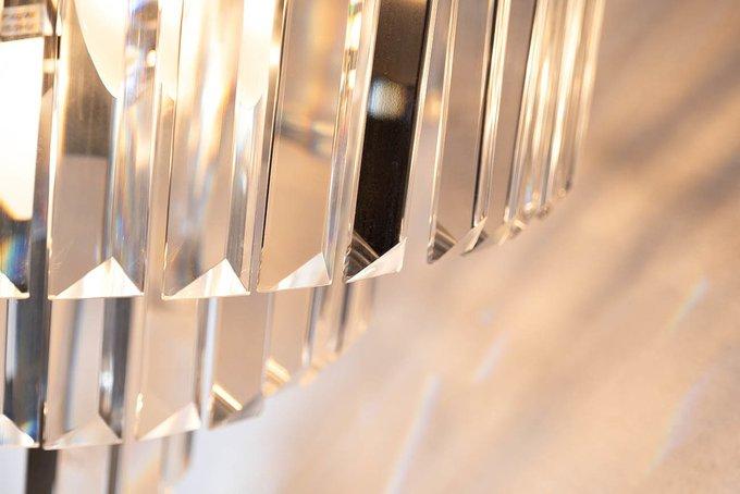 Подвесная люстра с подвесками из прозрачного стекла