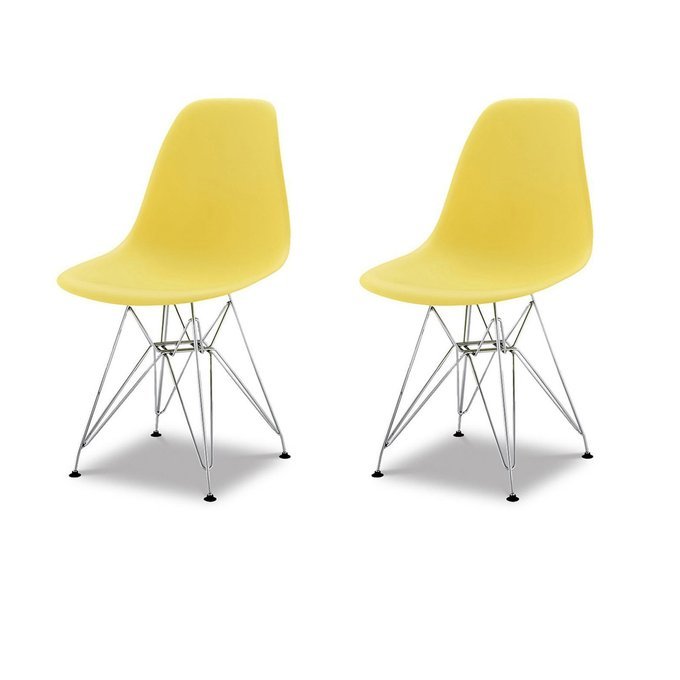 Набор из двух стульев желтого цвета