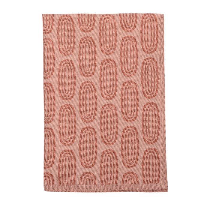 Полотенце кухонное Wild с принтом Sketch розово-бордового цвета 45х70