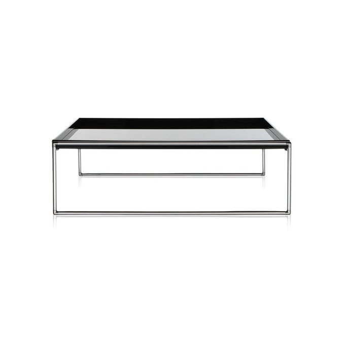 Журнальный столик Trays глянцево-черного цвета большой