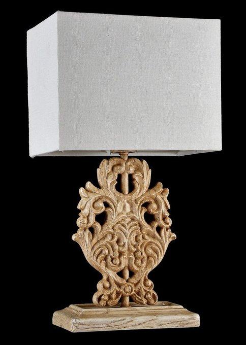 Настольная лампа Cipresso с абажуром льняного цвета