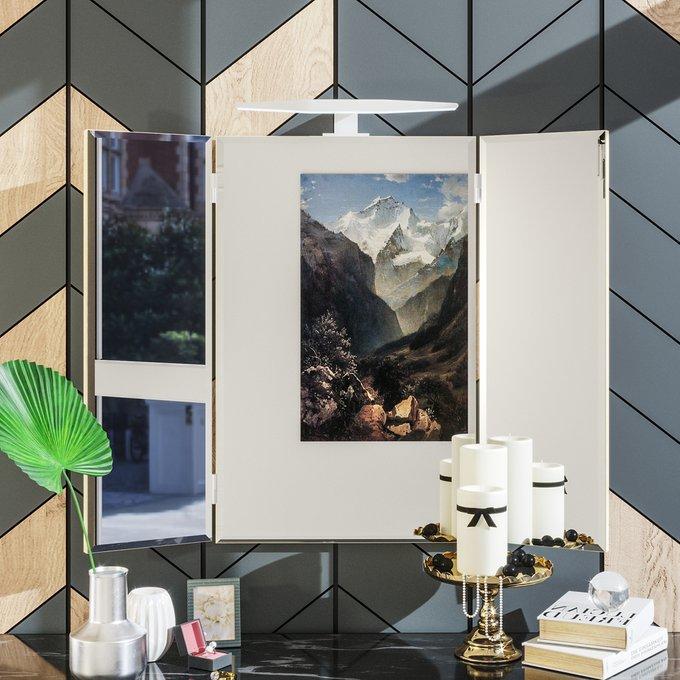 Настенное зеркало-трельяж Илона с подсветкой