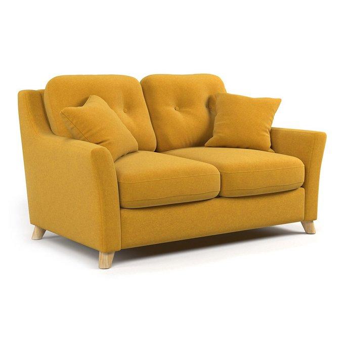 Диван-кровать Raf MT двухместный желтого цвета