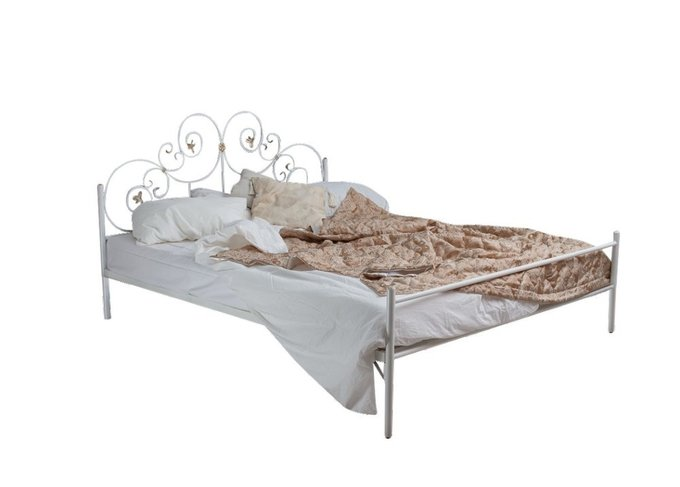 Кованая кровать Афина 1.6 с одной спинкой 160х200