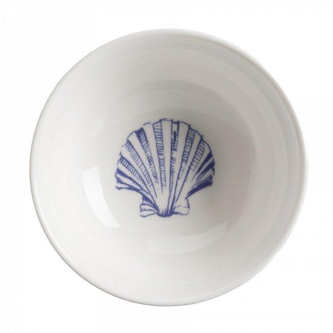 Керамическая пиала в морском стиле с волнами