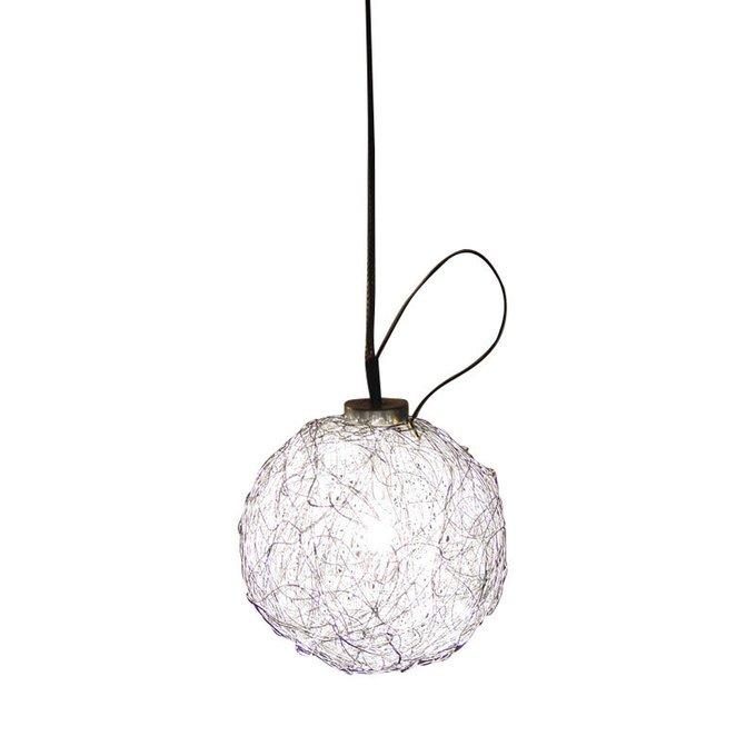 Подвесной светильник Catellani & Smith SWEET LIGHT с плафоном из переплетения металлической проволоки цвета латунь