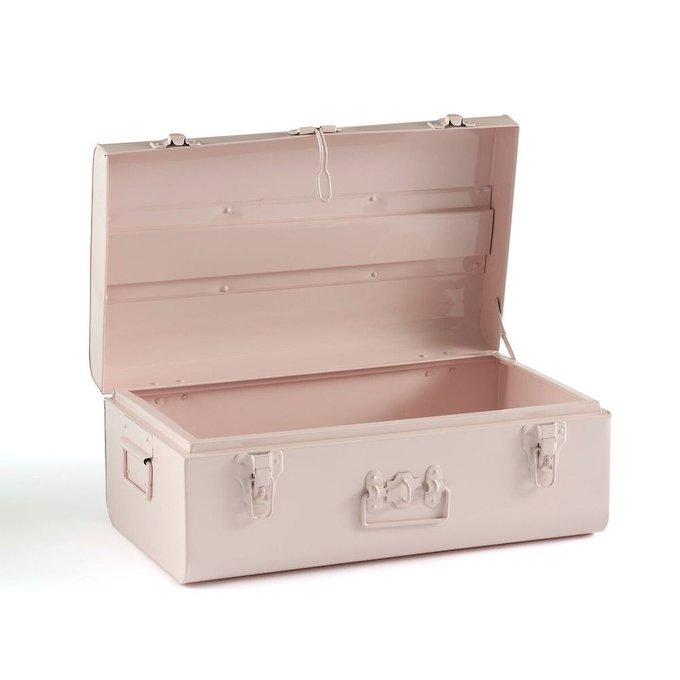 Сундук-чемодан Masa из металла розового цвета
