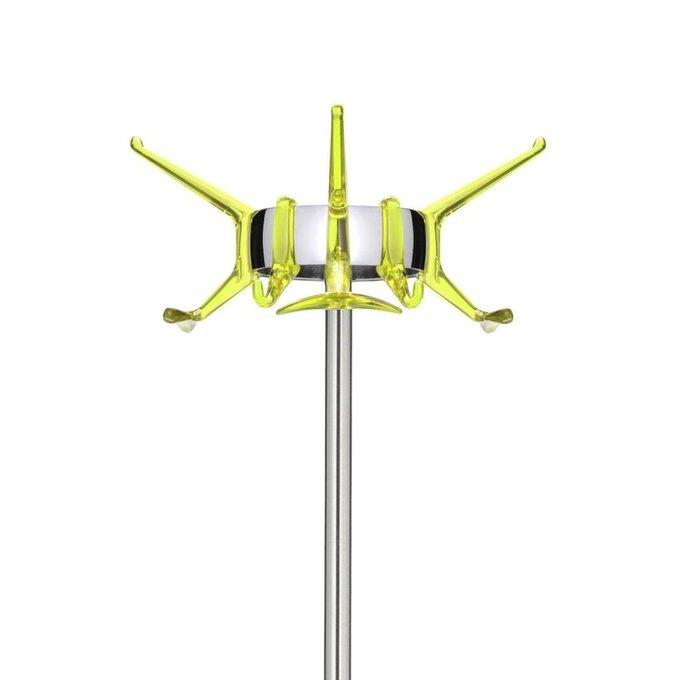 Вешалка для одежды Hanger с крючками зеленого цвета