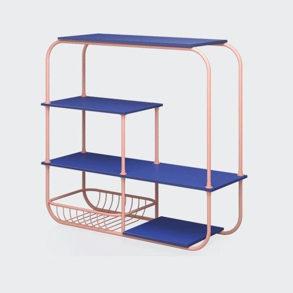 Стеллаж Bauhaus by Varya Schuka со стальным каркасом