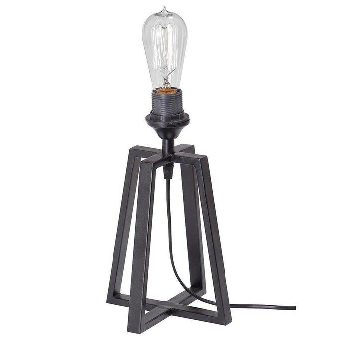 Настольная лампа из металла черного цвета