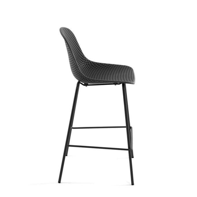 Полубарный стул Grey Quinby stool height серого цвета