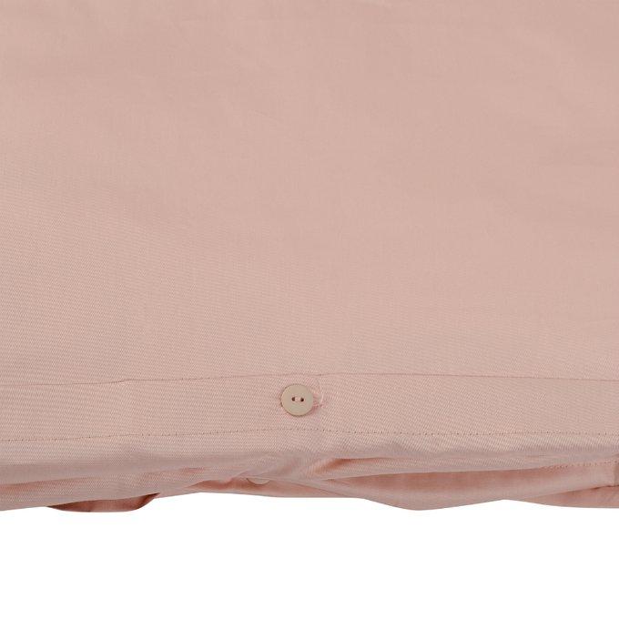 Комплект постельного белья Essential из сатина цвета пыльной розы 200х210