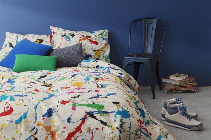 Комплект постельного белья Брызги белый 150х200