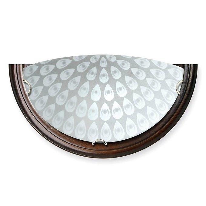 Настенный светильник с плафоном из стекла