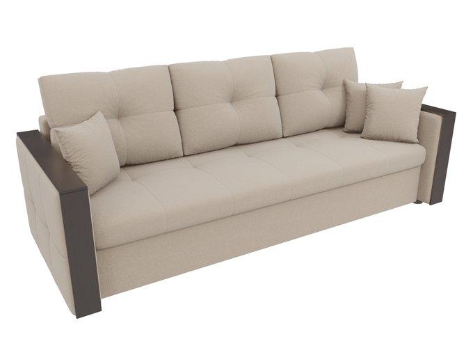 Прямой диван-кровать Валенсия бежевого цвета