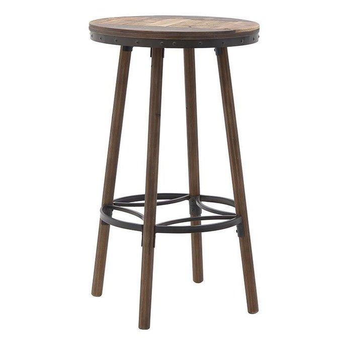 Барный стол из дерева и металла