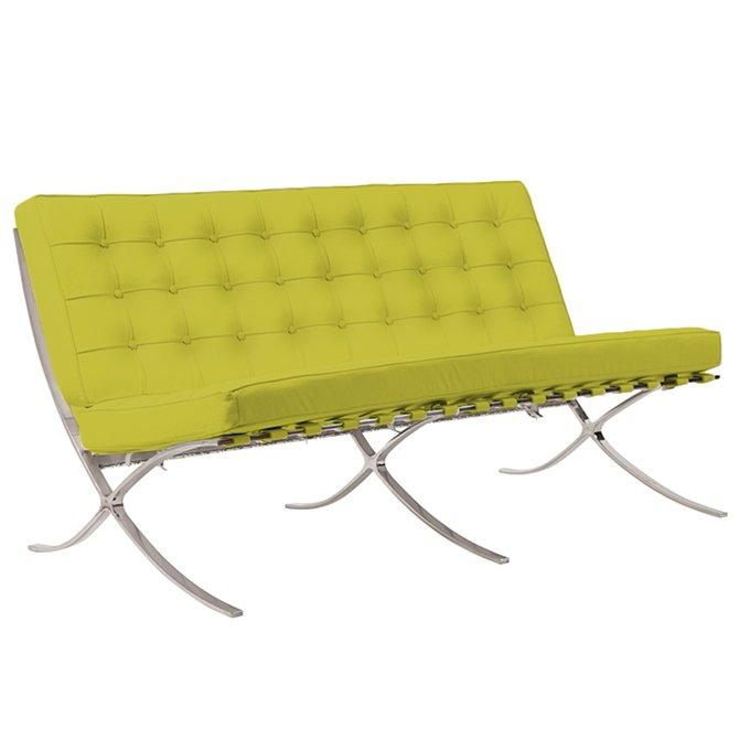 Двухместный диван Barcelona лимонного цвета