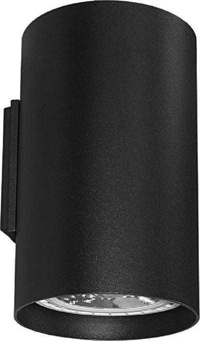 Настенный светильник Tube чёрного цвета