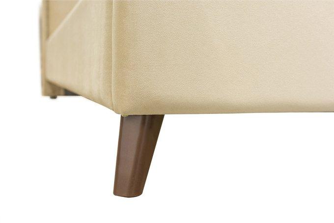 Кровать Эскада бежевого цвета с ортопедическим основанием 160х200