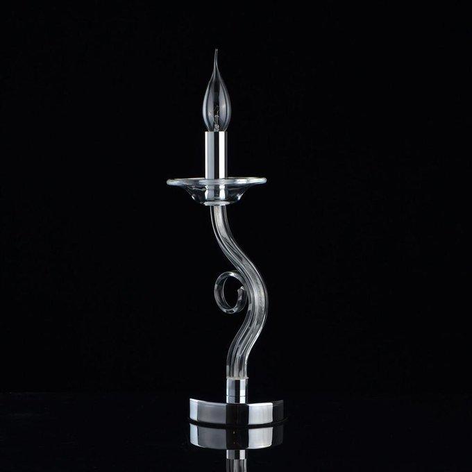Настольная лампа Элла цвета хром