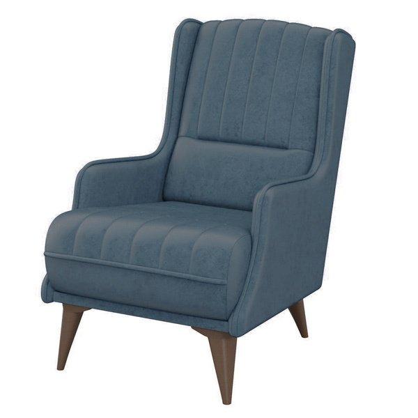 Кресло Болеро синего цвета