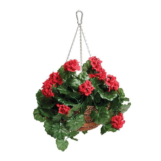 Корзина с цветами подвесная Gardman geranium