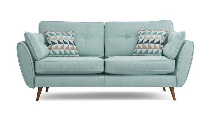 Прямой трехместный диван Элдон мятного цвета