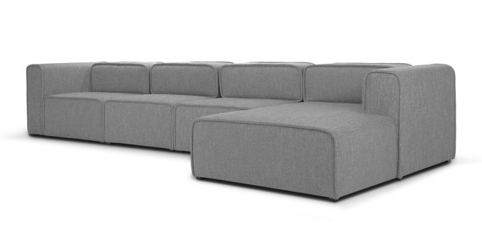 Модульный диван Метрополис XXL Silver