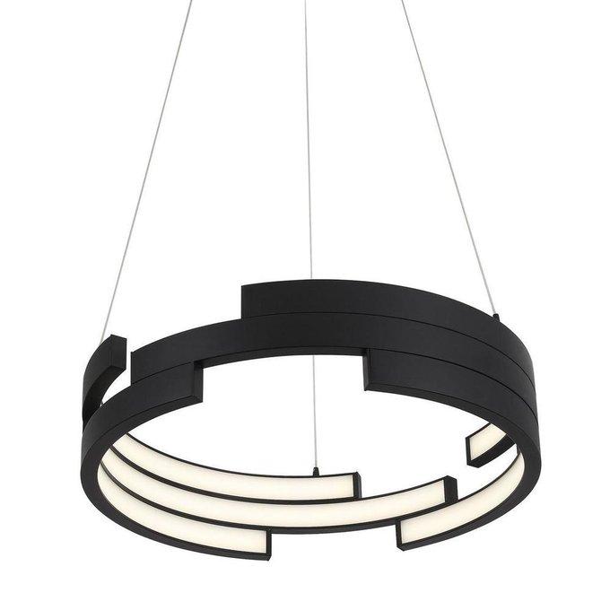 Подвесной светодиодный светильник Genuine черного цвета