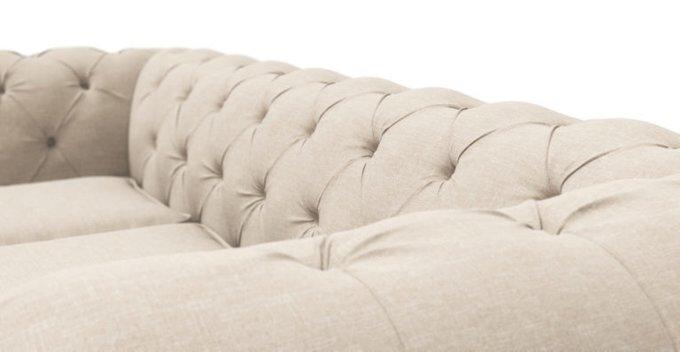 Трехместный диван Chesterfield Lux бежевый