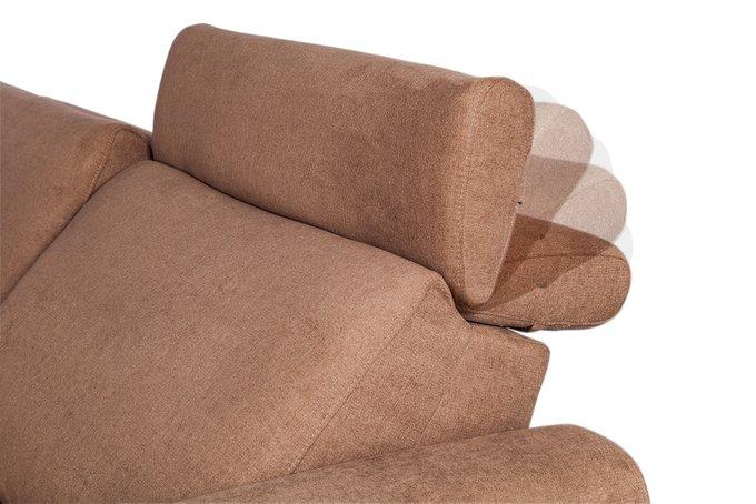 Угловой диван Hilton коричневого цвета