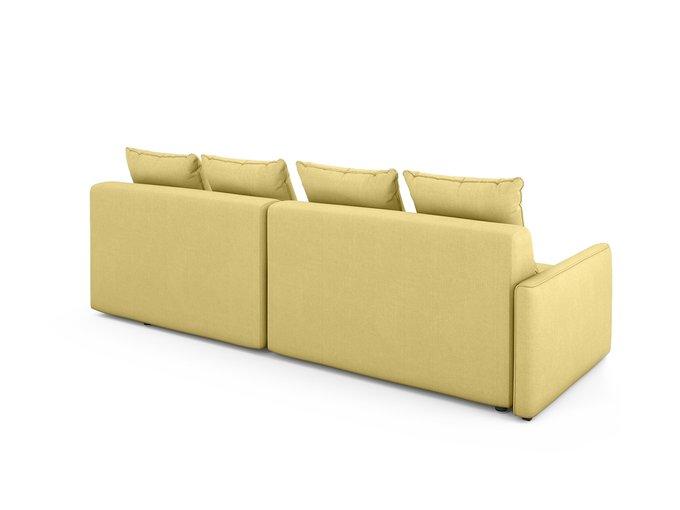 Угловой Диван-кровать Bronks правый желтого цвета