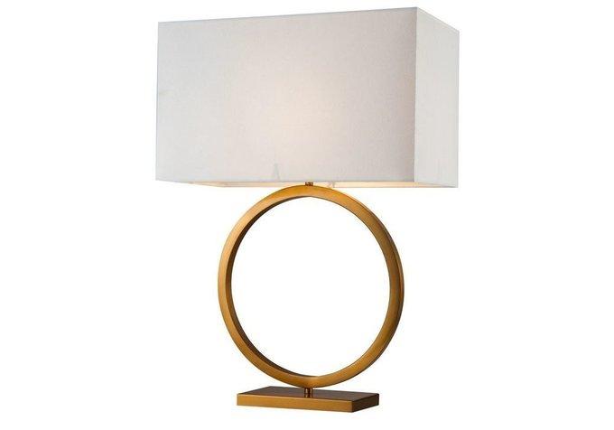 Настольная лампа Oktavian с белым абажуром