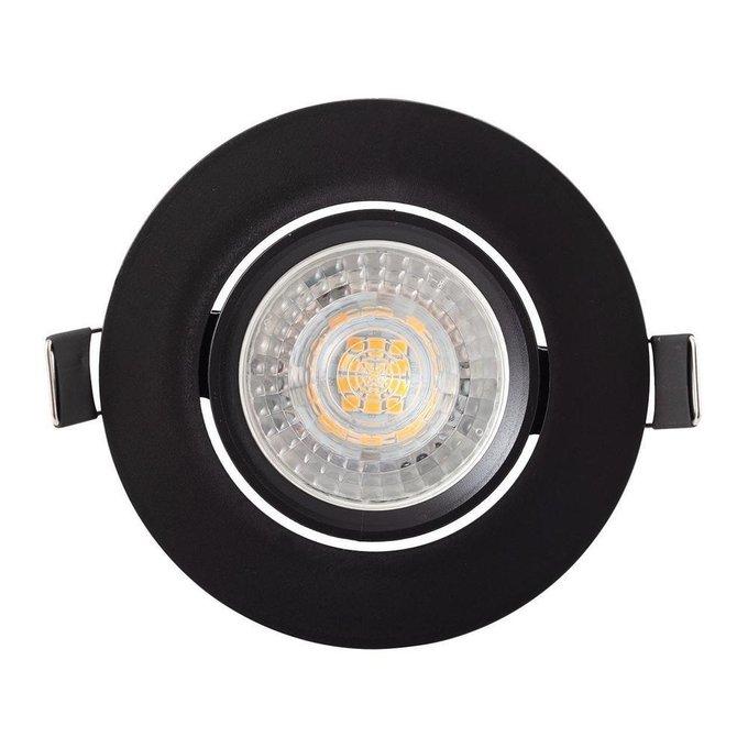 Встраиваемый светильник из пластика черного цвета
