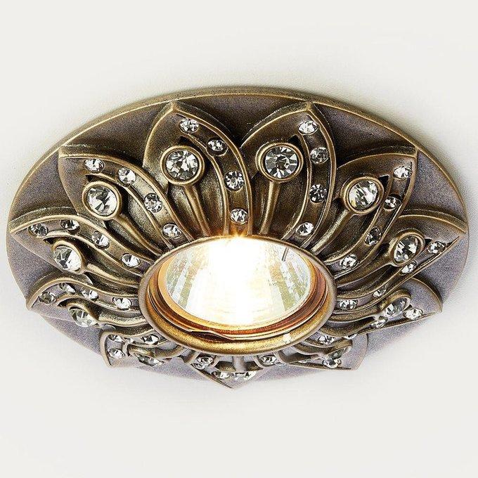 Встраиваемый светильник Desing бронзового цвета