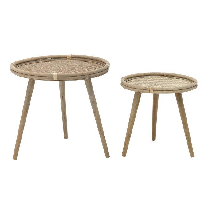 Набор из двух кофейных столиков бежевого цвета