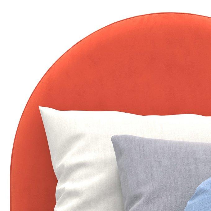 Односпальная кровать Alana на ножках красного цвета 100х200