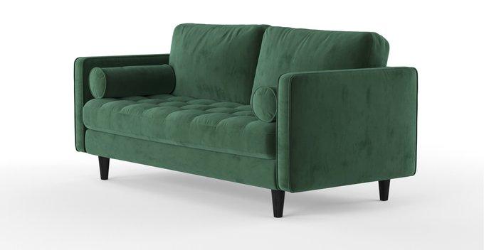 Трехместный диван Scott зеленого цвета