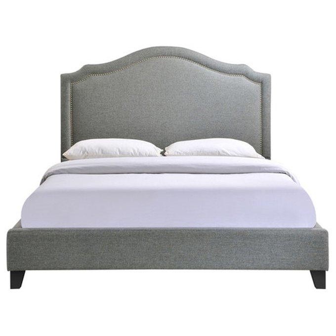 Кровать Cassis Upholstered серого цвета 180х200