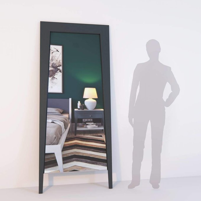 Напольное зеркало Ego Grey из массива дуба