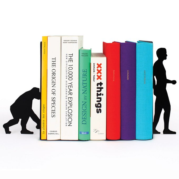 Ограничитель для книг Doiy evolution черный