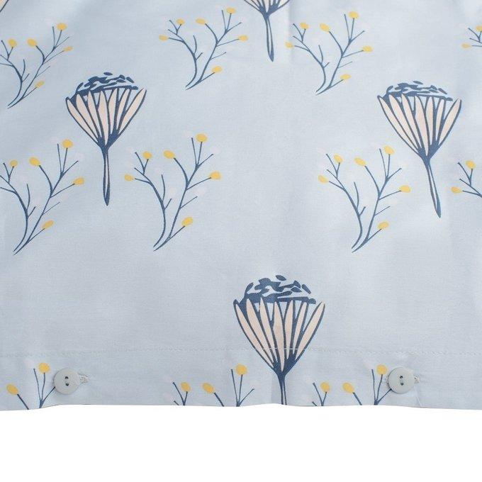 Пододеяльник двухсторонний из сатина с принтом Полевые цветы 150х200