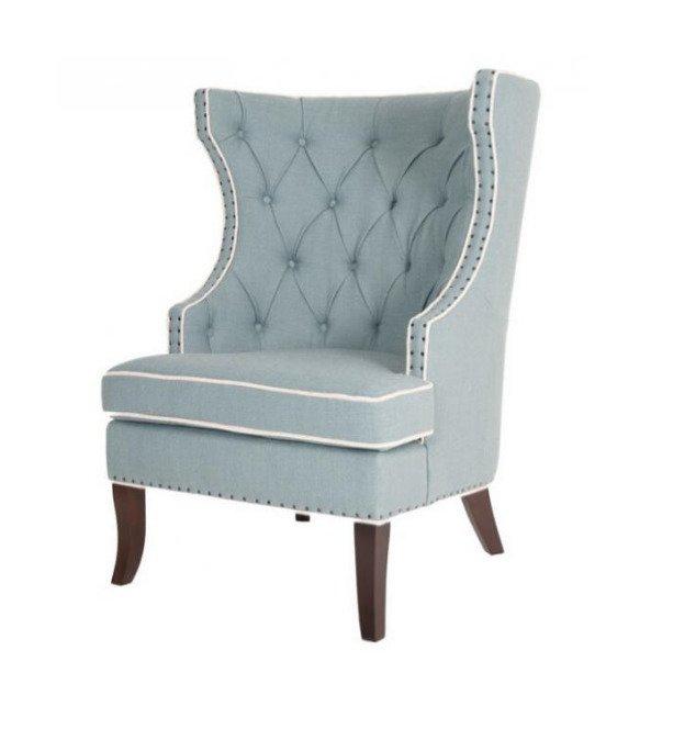 Кресло Gramercy Club Chair Бирюзового цвета
