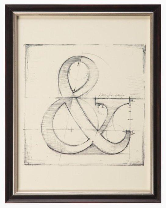 """Постер в раме """"Drafting Symbols"""""""