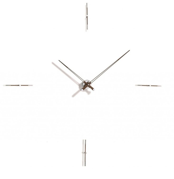 Настенные часы Merlin с хромированным основанием