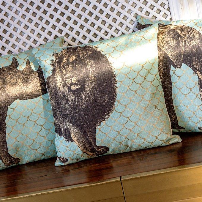Интерьерная подушка Самый главный бирюзового цвета