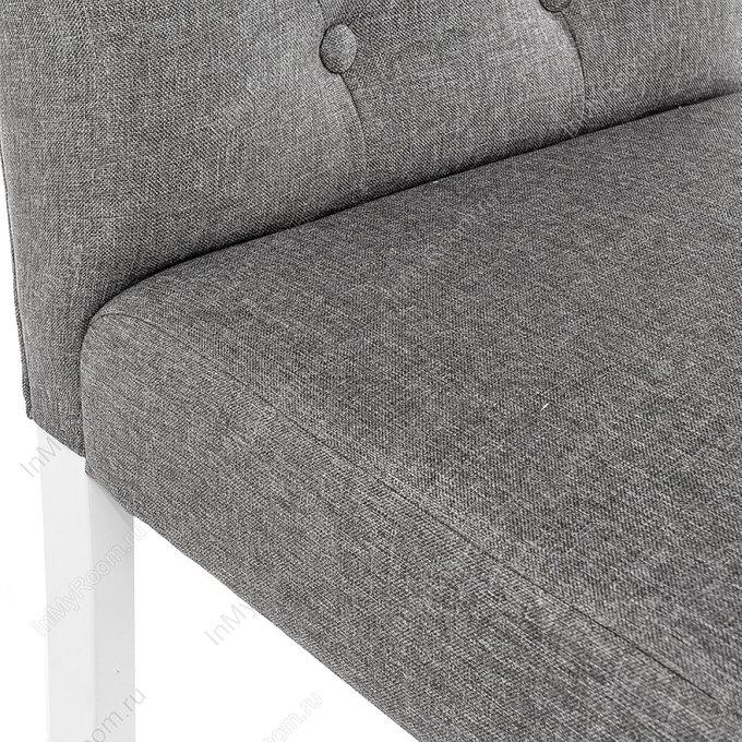 Стул Menson white fabric pebble серого цвета
