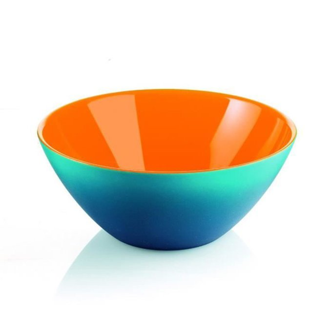 Салатница Guzzini my fusion 20 см голубая-оранжевая