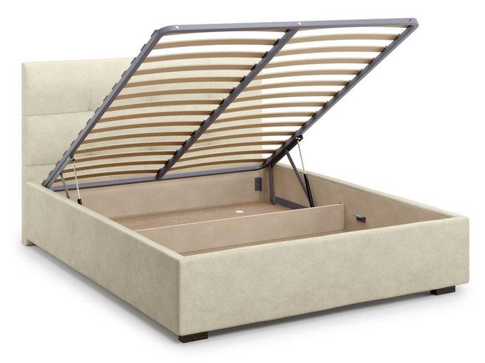Кровать Garda 160х200 бежевого цвета с подъемным механизмом