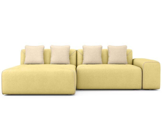 Угловой Диван-кровать Portu левый желтого цвета